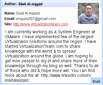 Eiad Al-Aqqad Virtualization & Storage Expert on Linkedin