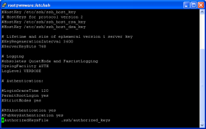 vmware vi3 permit root login