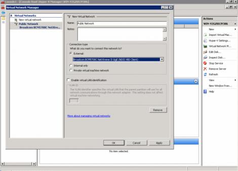 ms windows 2008 hyper-v external virtual network configuration