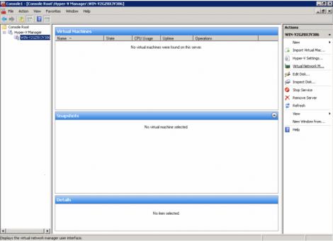 windows 2008 hyper-v choosing the hyper-v server to manage