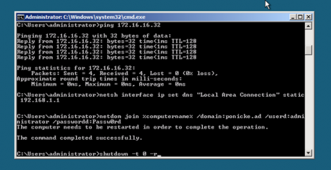 Microsoft Hyper-v server core restart
