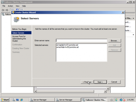 windows 2008 cluster add nodes to cluster