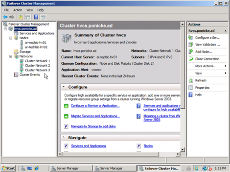 windows 2008 cluster management ready