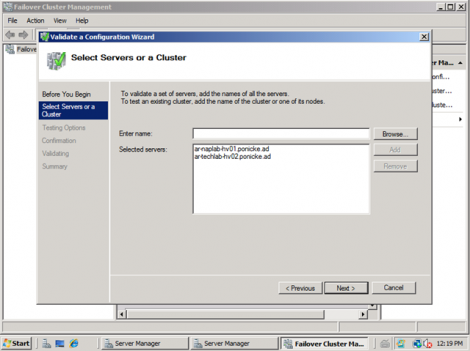 windows 2008 failover cluster add nodes