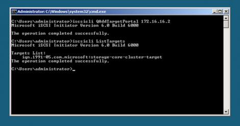 Windows 2008 server core iscsi obtain target iqn