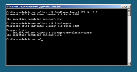 Windows 2008 server core iscsi obtain target iqn