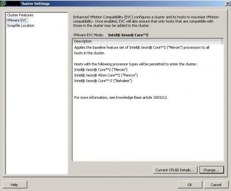 VMware Vsphere Enable VMware EVC