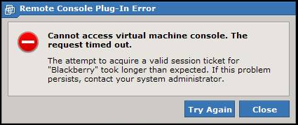 Accessing the console of a Windows virtual machine through Web Access in ESX 4.0 times out