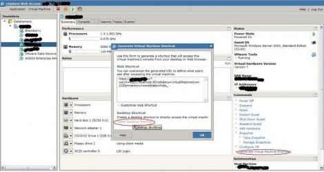 VMware vSphere ESX 4 hit install desktop shortcut