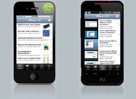 Android & iPhone VMware KB App