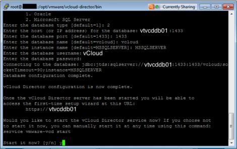 ReConfigure vCD SQL Connection