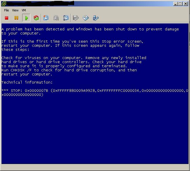P2V windows 7 dell machine using VMware vCenter Converter