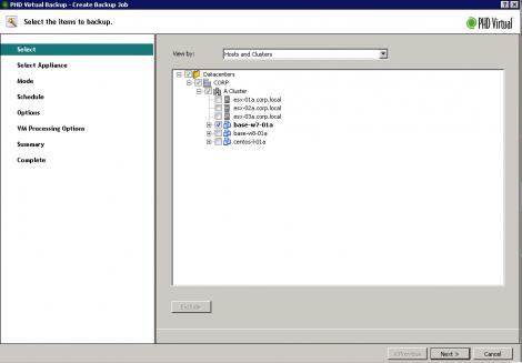 PHDVB v6.0 backup screen