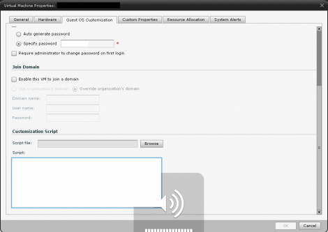 vCloud Director 1.5. Customization Script to join AD Domain