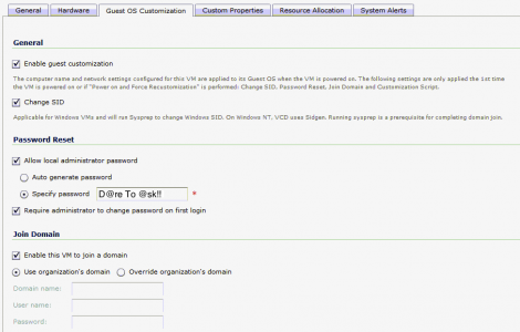 vCloud Director Guest customization joining AD