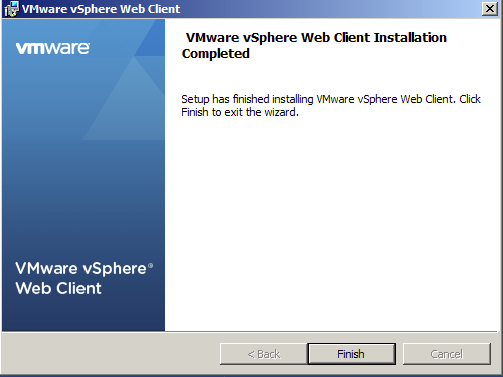 Complete the vSphere Web Client Installation