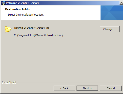 VMware vCenter Server Installation Directory