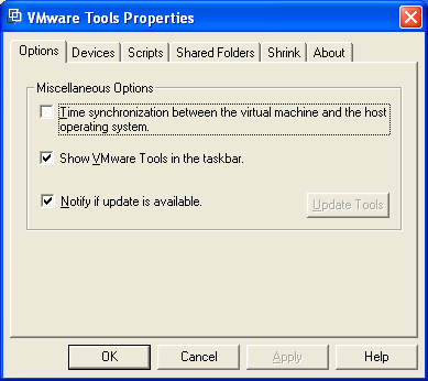 VMware Tools Properties