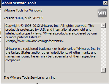 vSphere 5.1 VMware tools settings no NTP check box