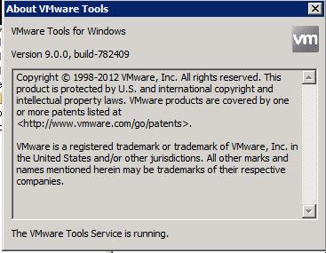 vSphere 5.1 VMware tools settings no NTP check box