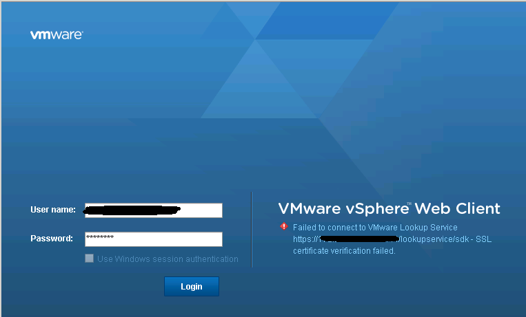 Web Client Error after changing vCenter Appliance IP