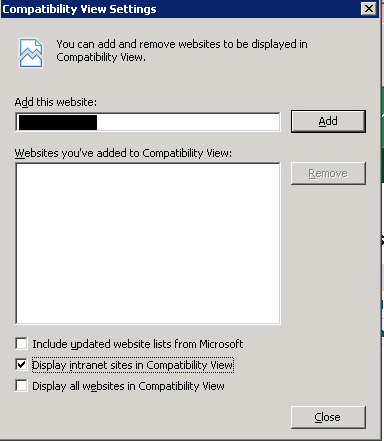 Disable IE8 Compatibility mode