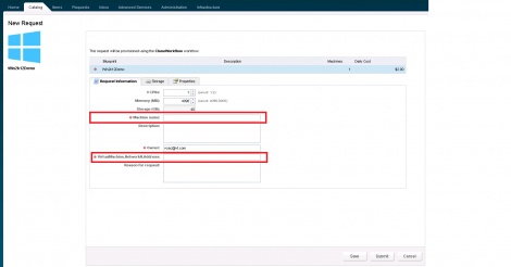 vCloud AUtomation Center 6 Custom Properties