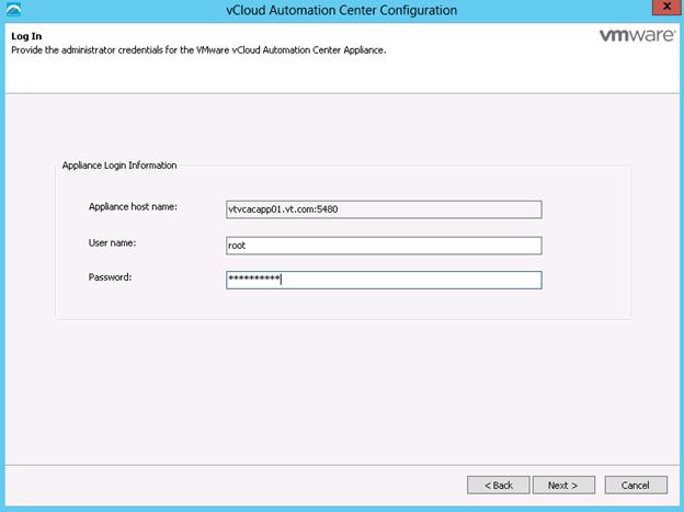 vCloud Automation Center 6.1 Configuration