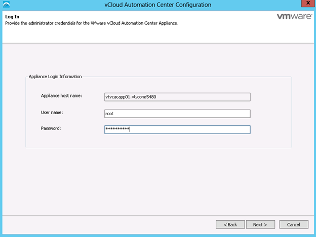 vCloud Automation Center 6.1 Configuration