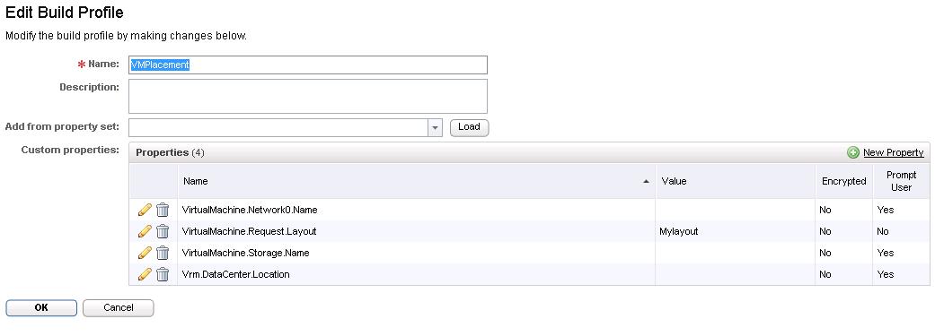 vCAC Create Build Profile