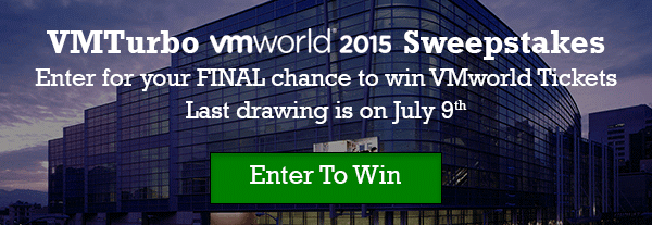 VMTurbo VMworld 2015 Sweepstakes