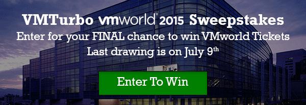 VMTurbo VMworld 2015 Sweepstakes
