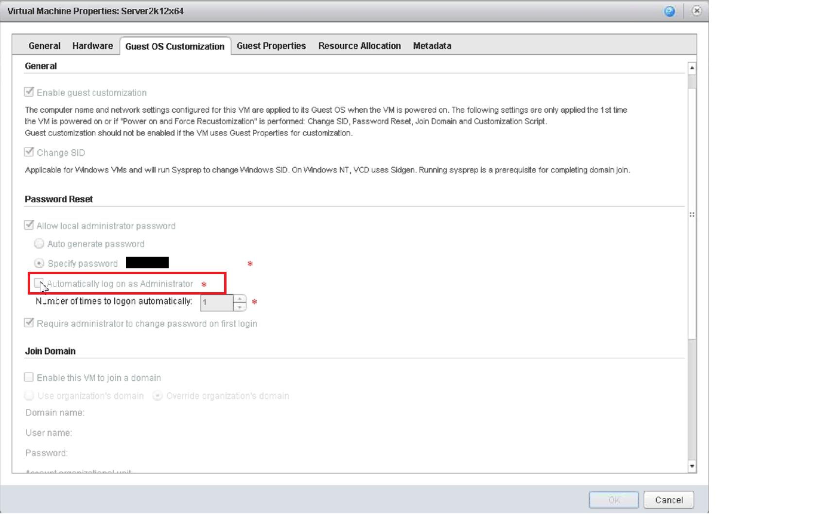 vRA deployment to vcloud Air fails Automatically login as an administrator