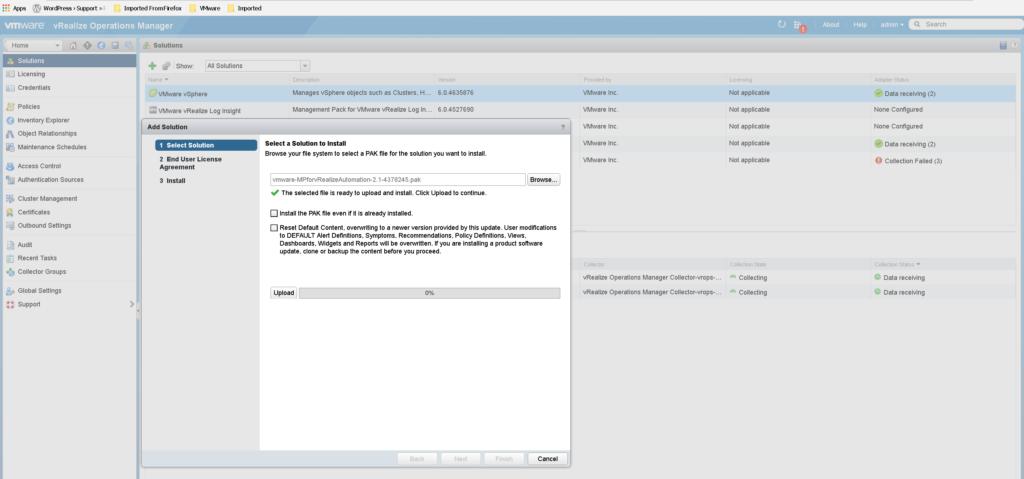 Installing vROPs management pack for vRealize Automation
