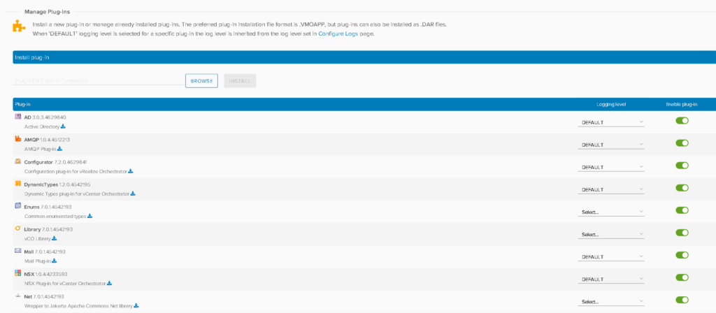 NSX Plugin for vCenter Orchestrator