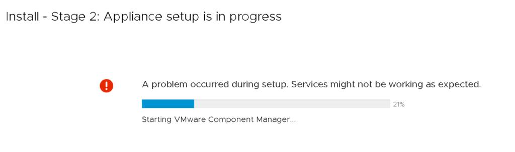 vCenter Server Fails upon first reboot
