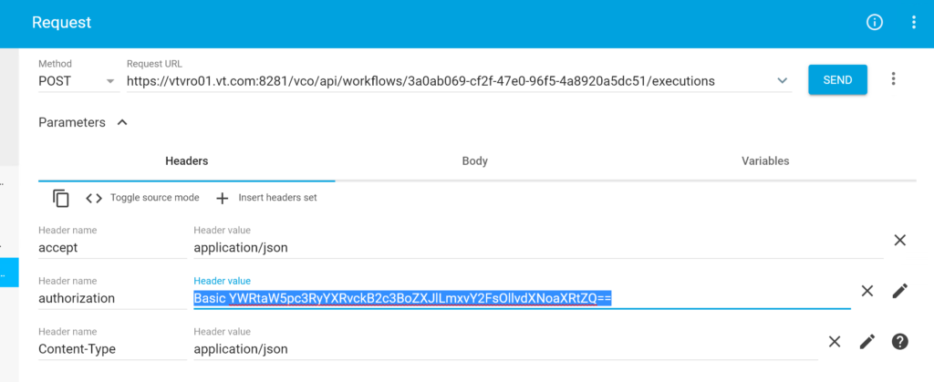 Executing vRealize Orchestrator workflows using Rest API